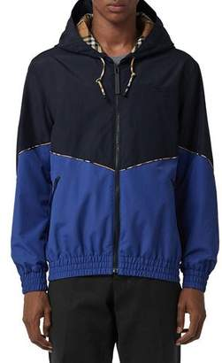 Burberry Men's Elworth Hooded Zip-Front Nylon Jacket