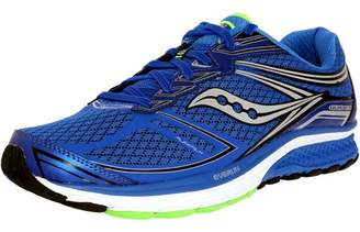 Saucony Men's Guide 9 Blue/Slime/Black Ankle-High Nylon Running Shoe - 9W