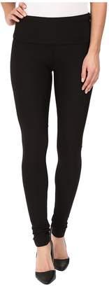 Plush Fleece-Lined High Waisted Matte Spandex Leggings Women's Casual Pants