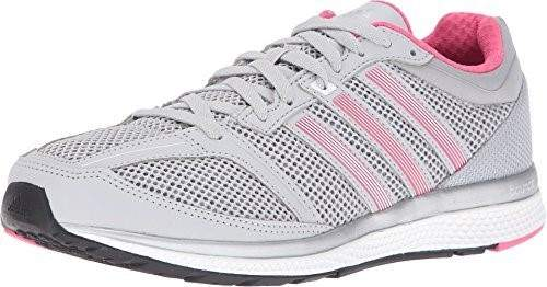 adidas Performance Women's Mana RC Bounce W Running Shoe, Solid Grey/White/Bahia Pink S14, 8.5 M US