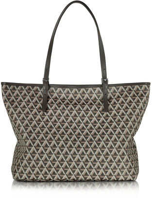 Lancaster Paris Ikon Printed Coated Canvas and Leather Tote $230 thestylecure.com