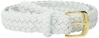 Lauren Ralph Lauren 1 1/4 Woven Elastic Stretch Belt with Roller Engraved Buckle Women's Belts