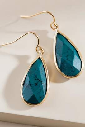 francesca's Dolores Teardrop Earrings - Teal