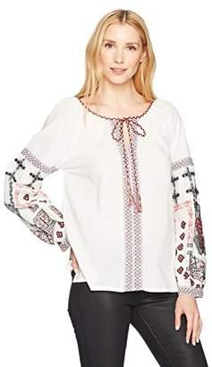 Max Studio Women's Embroidered Cotton Blouse