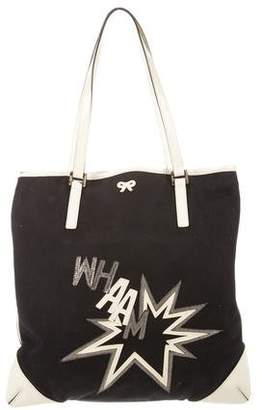 Anya Hindmarch Leather-Trimmed Canvas Tote