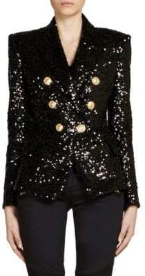 Balmain Croisee Six-Button Jacket