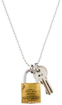 Marc Jacobs Padlock & Key Idiom Pendant Necklace