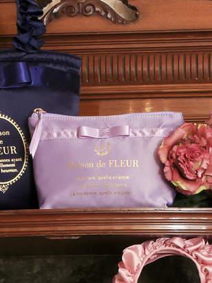 Maison de Fleur (メゾン ド フルール) - Maison de FLEUR サテンブランドロゴポーチ メゾン ド フルール バッグ