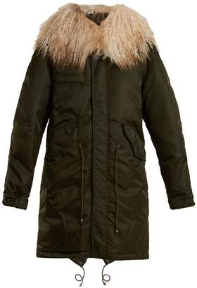 Mr & Mrs Italy Mongolian fur-lined padded bomber jacket