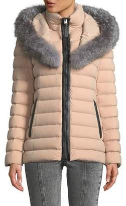 Mackage Kadalina Puffer Jacket with Fox Fur
