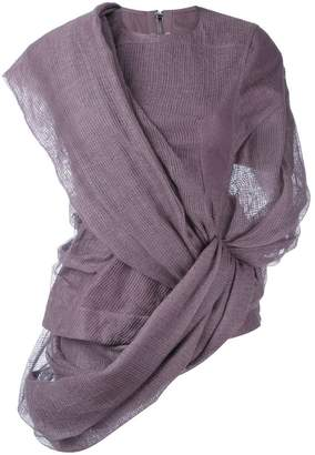 Rick Owens asymmetric wrap jumper