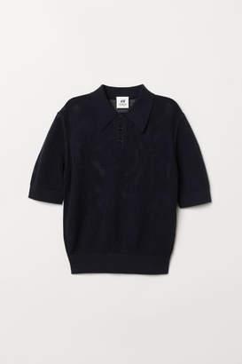 H&M Hole-knit Sweater - Blue