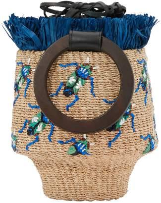 Aranaz Greta bucket bag with fringes