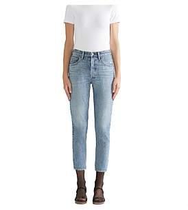 A Gold E Agolde Jamie High Rise Classic Straight Jean