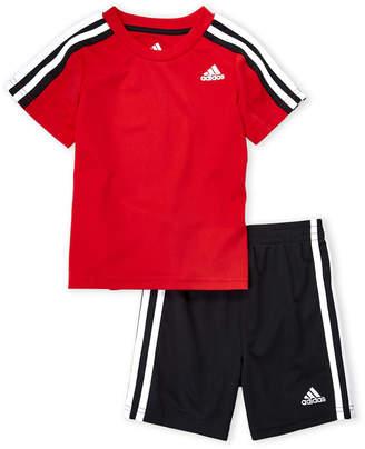 adidas Boys 4-7) Two-Piece Logo Tee & Soccer Shorts Set