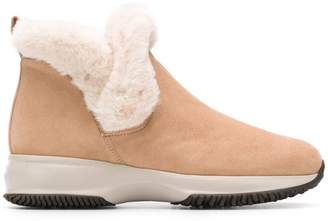 Hogan shearling ankle boots