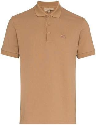 Burberry Logo Embroidered Short Sleeved Polo Shirt