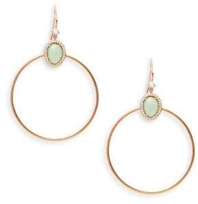 Nadri Isola Crystal and Silver Hoop Earrings