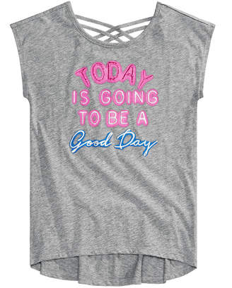 Epic Threads Big Girls Graphic-Print Crisscross Straps T-Shirt, Created for Macy's
