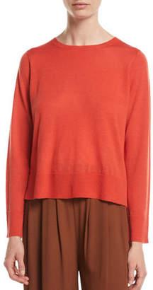 Eileen Fisher Ultrafine Merino Wool Boxy Sweater, Petite