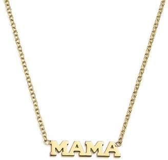 "Rachel Zoe Zoë Chicco 14K Yellow Gold Itty Bitty Mama Necklace, 16"""