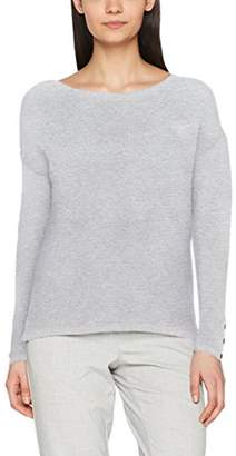 cache cache Women's PURPULL Long Sleeve Jumper, Gris (Gris Clair Chiné), Medium (Manufacturer Size: Medium)