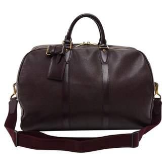 Louis Vuitton Burgundy Leather Travel Bag