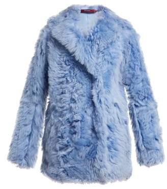 Pippa Sies Marjan Double Breasted Shearling Coat - Womens - Light Blue