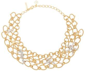 Oscar de la Renta fishnet star fish necklace