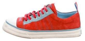 Chanel CC Cap-Toe Low-Top Sneakers