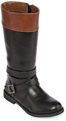 Arizona Girls Wafer Riding Boots Stacked Heel Zip