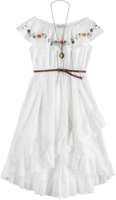 Knitworks Girls 7-16 knit works Embroidered Ruffle Dress