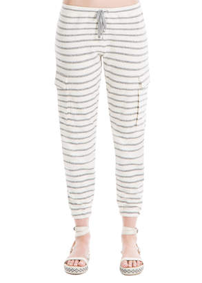 Max Studio striped drawstring pants