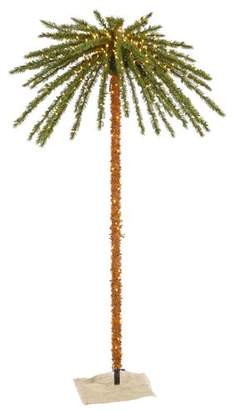 clear Bayou Breeze Outdoor 7' Tropical Artificial Christmas Tree with 500 Lights