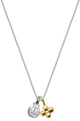 Alex Woo Sterling Silver Mini Ladybug Charm Pendant Necklace