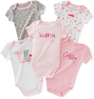 Calvin Klein 5-Pk. Bodysuits, Baby Girls (0-24 months) $42 thestylecure.com