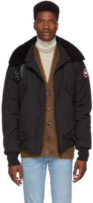 Canada Goose Black Down Bromely Bomber Jacket