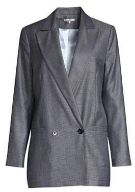 Ganni Merkel Double Breasted Silk& Wool Jacket