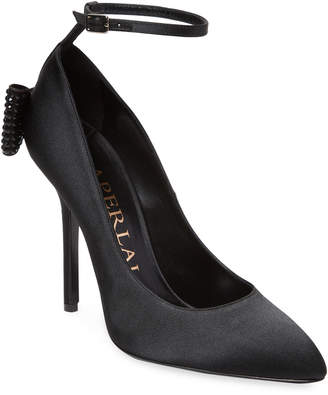 Aperlaï Bow Satin Pump