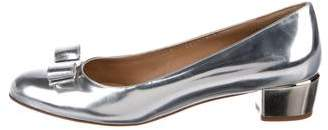 Salvatore Ferragamo Metallic Bow Pumps
