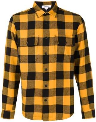 Frame checked button-down shirt