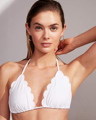 Express Scalloped Triangle Bikini Top