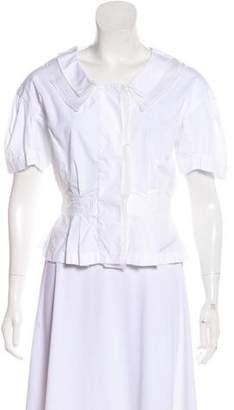 Nina Ricci Short Sleeve Button-Up Top w/ Tags