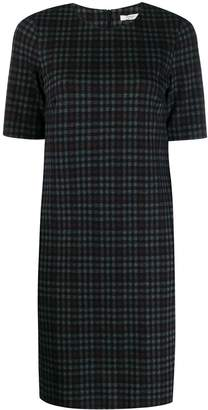 Peserico checked fitted dress