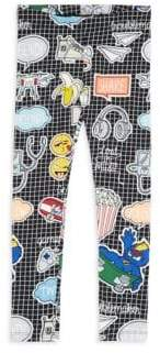 Fendi Little Girl's & Girl's Cotton-Blend Printed Leggings