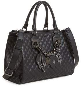 GUESS Quilted Satchel