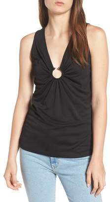 Trouve Trouv? Shirred V-Neck Tank