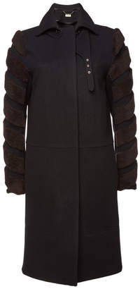 By Malene Birger Belianna Wool Coat with Shearling