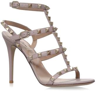 Valentino Leather Rockstud Sandals 105