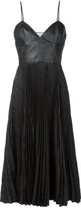 Cédric Charlier pleated contrast dress